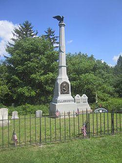 COL. ELMER E. ELLSWORTH MONUMENT AND GRAVE